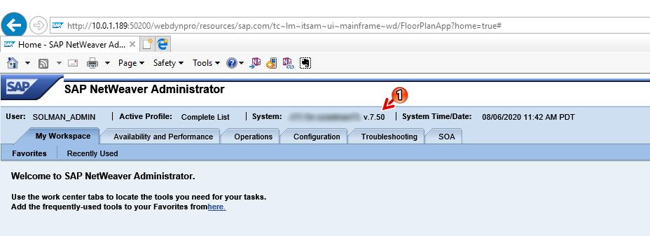 SAP Java Netweaver Administrator