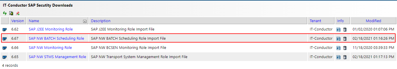 IT-Conductor SAP Security Downloads