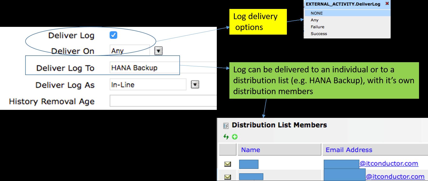 IT-Conductor SAP Basis Automation HANA Backup Create SQL Job - Activity 2