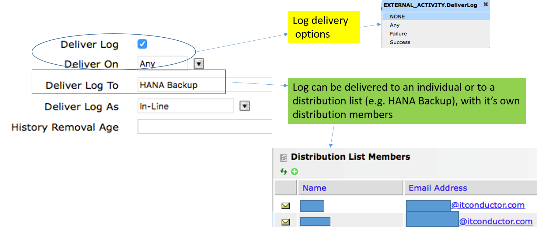 IT-Conductor SAP Basis Automation HANA Backup Create SQL Job - Activity 2
