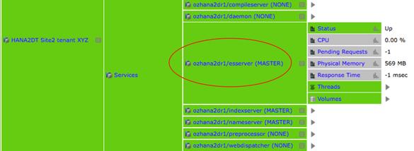 IT-Conductor HANA Monitoring HA/DR Grid SR Dynamic Tiering Site2