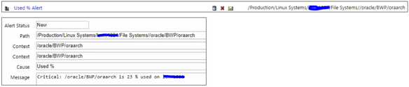 IT-Conductor SAP Monitoring Database Space Filesystems