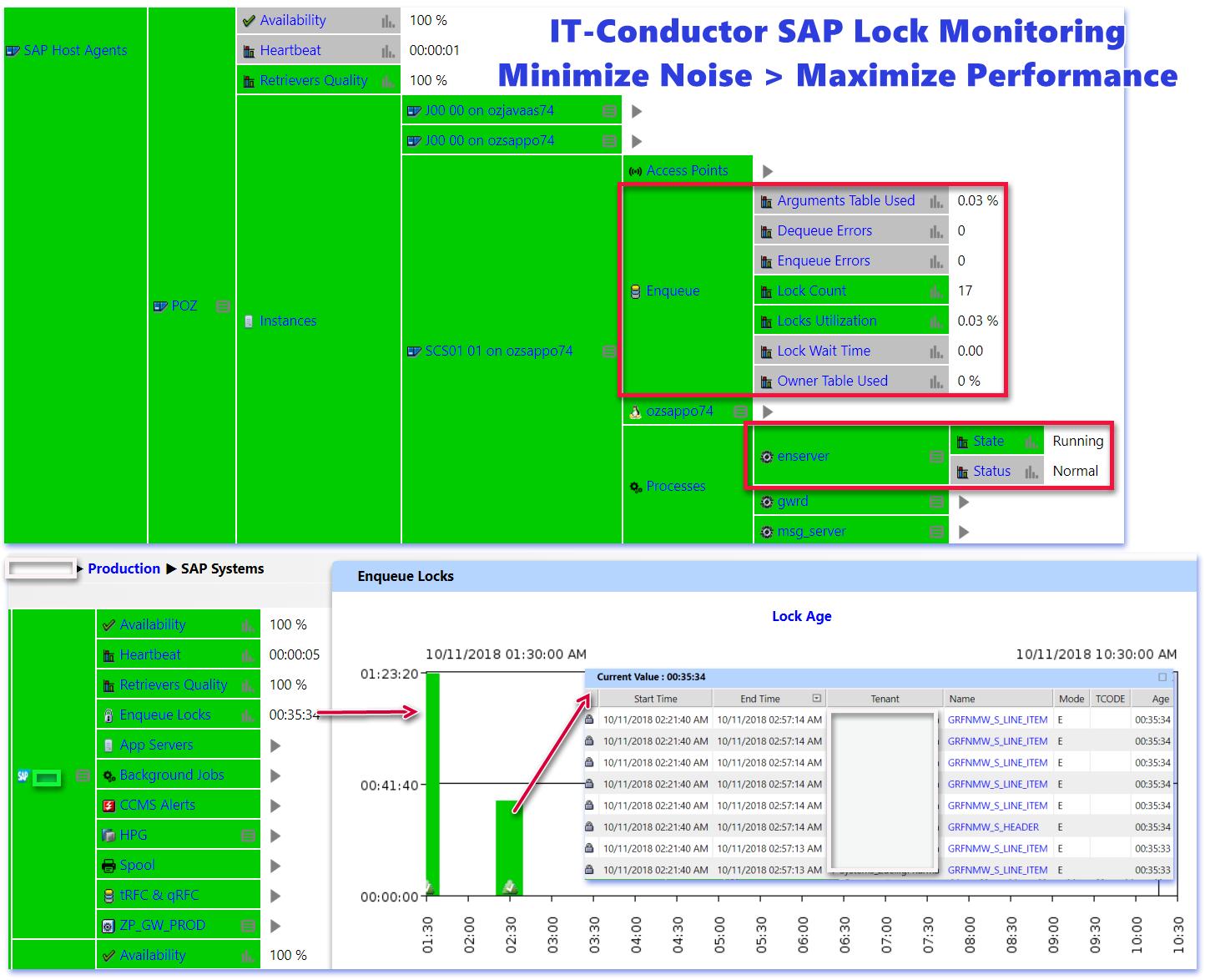 IT-Conductor Basis Monitoring of Locks and Enqueue Views