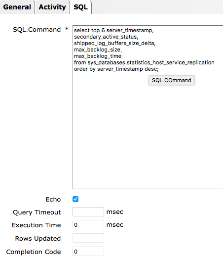 IT-Conductor SQL Activity Editor