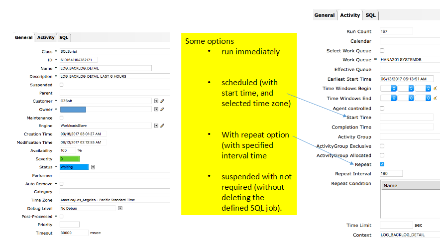 Log Backup Activity Detail