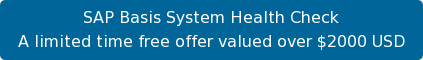 SAP Basis System Health Check A limited time free offer valued over $2000 USD