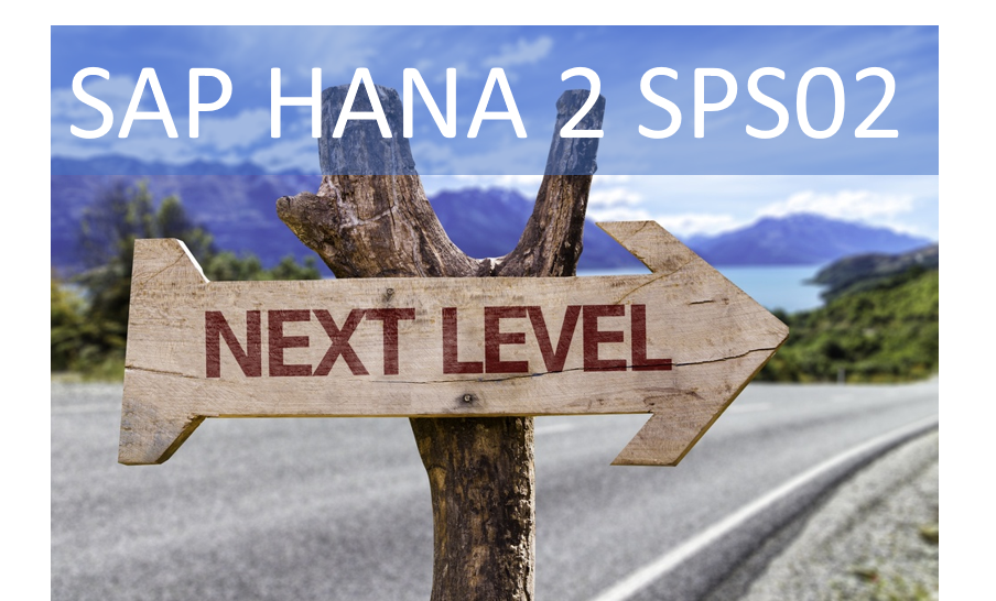 SAP HANA 2 SPS02 Upgrade